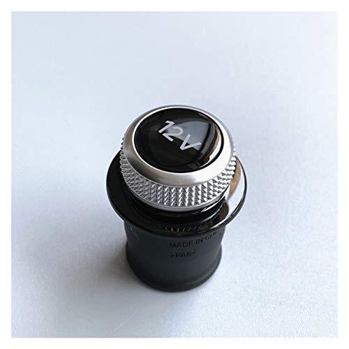 XJX Cigarette Lighter Cover Chrome Plated Cigarette Lighter Plug Fit for Audi A3 A4 A5 Q2 Q7 R8 8W0 919 311 12V