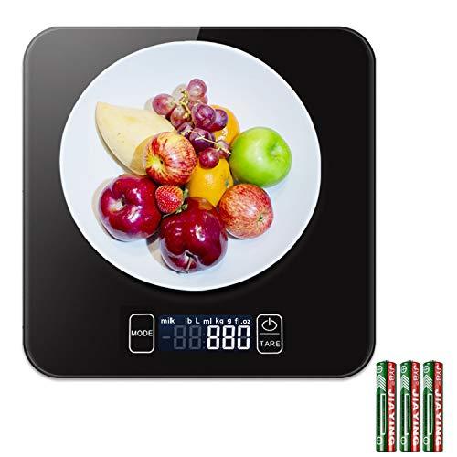 Doubfivsy - Báscula de cocina, 33 Ib, peso digital, gramos, onzas para cocinar, hornear, cocinar, báscula multifunción para alimentos, graduación precisa de 1 g/0.1 oz, vidrio templado