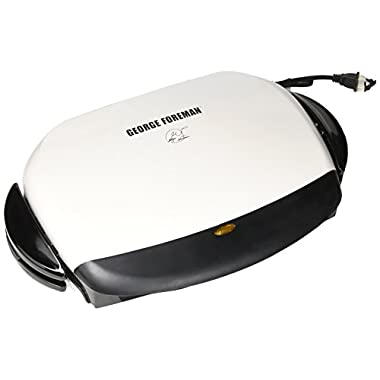 George Foreman 5-Serving Removable Plate Next Grilleration Grill, White, GRP4-1