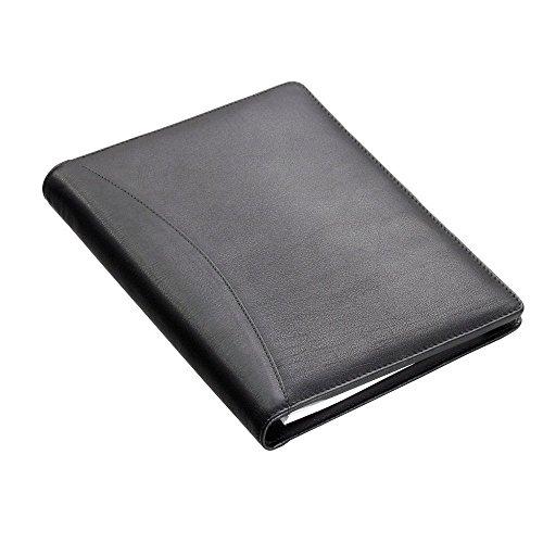 Alassio 43008-1 - Schreibmappe Bormio, DIN A5, Nappa-Leder, schwarz, ca. 23 × 18;5 × 2 cm