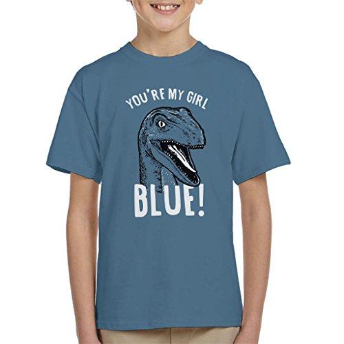 Youre My Girl Blue Jurassic World Kid's T-Shirt