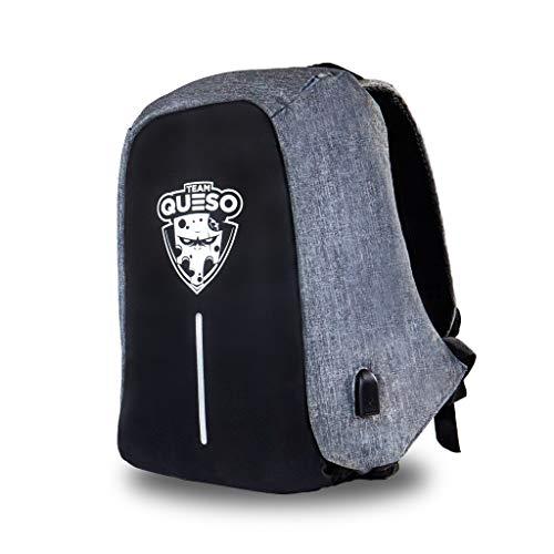 Team kaas anti-diefstal rugzak Limited Edition laptopvak, geïntegreerde USB-poort, grijs