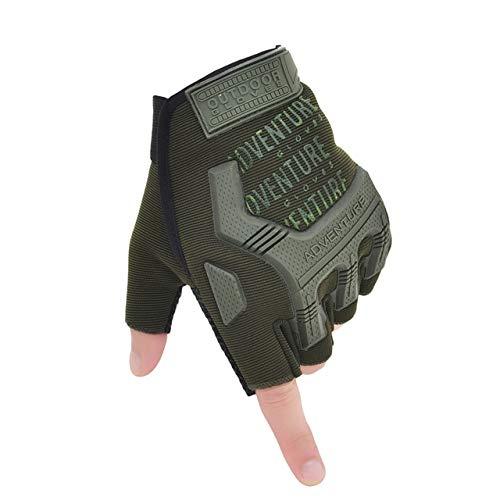 Guantes sin Dedos, Mitones de Camuflaje para Fitness, Motocicleta Antideslizante para Hombre, Guantes de Medio Dedo para Mujer y Hombre-A8-XL