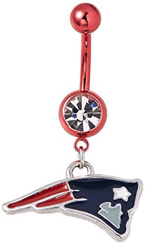 NFL New England Patriots Navel Ring 14 Gauge