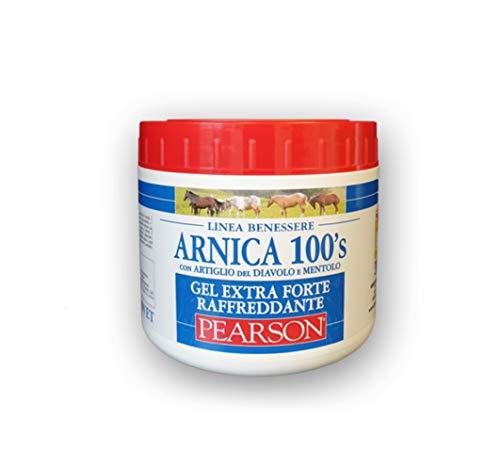 ARNICA 100's® - Arnica para caballos, gel extrafuerte refrescante Pearson [500 ml] Crema árnica gel con garra del diablo y mentol. Pomada deatizante y relajante.