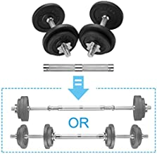 papababe Adjustable Dumbbells Cast Iron with Connector 40 50 65 105 200, Adjustable Dumbbell Sets, Lifting Dumbells. (20, Pair)