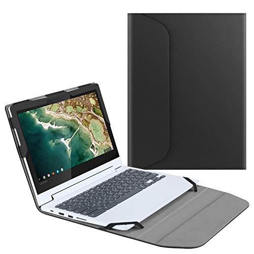 Fintie Sleeve Case for 11.6' Lenovo Chromebook C330 - Premium PU Leather Protective Book Cover (NOT Fit Lenovo Chromebook N20p / N21 / N22 / N23 / 300E / 500E / Flex 11), Black