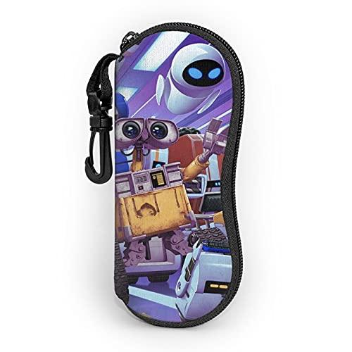 Walle Ultraleichtes, tragbares Neopren-Hartschalenetui mit Reißverschluss und Karabiner, für Damen und Herren