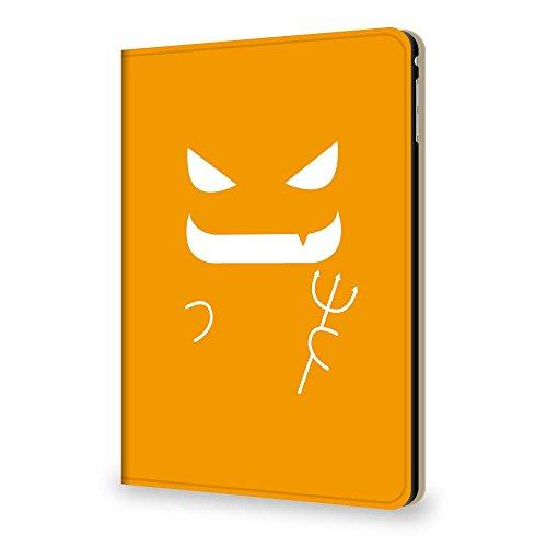 +S iPad Air2 9.7 ケース 小悪魔 デビル オレンジ PUレザー 三つ折スタンド 1057-02
