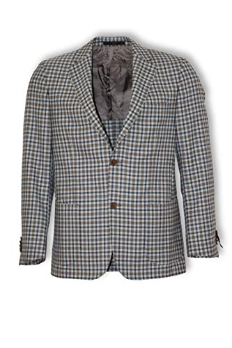 DAKS LONDON Recent Sakko 100% Vigrin Wool Plaid-Muster Gr. 48 DE