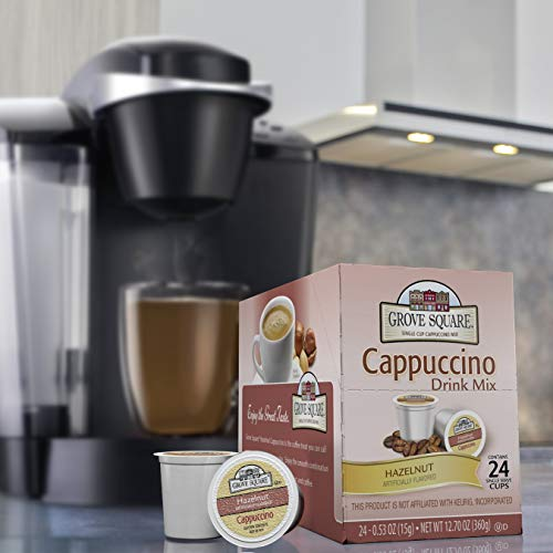 Grove Square Cappuccino, Hazelnut, 24 count