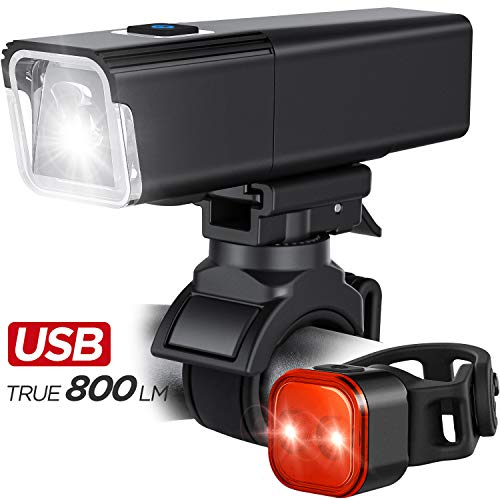iKirkLiten 2020 Upgraded 800 Lumens Bike Light USB...