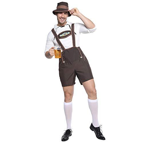 EraSpooky Disfraz de Oktoberfest Bvaro Alemn para Hombre Cosplay Fiesta Traje Divertido para Adultos