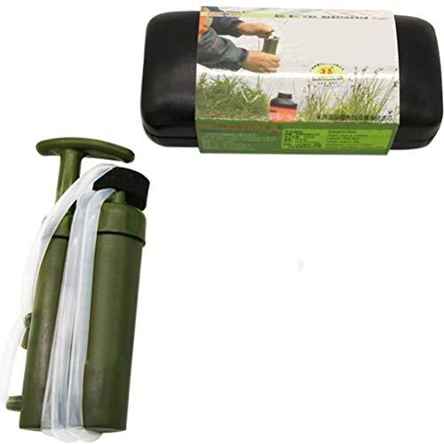 Mlamat Wasserflasche, tragbarer Wasseraufbereiter für Outdoor Notfall Survival Wasserfilter Camping Wandern Wasserfiltergerät