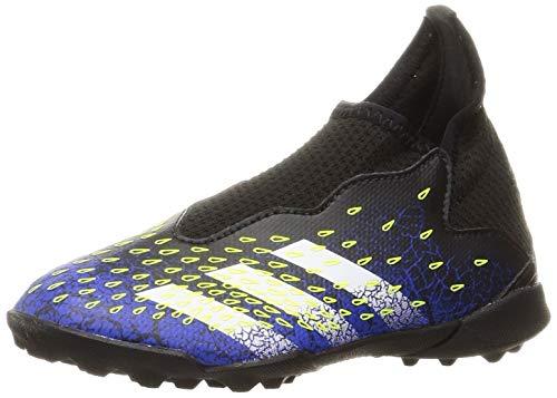 adidas Freak .3 Laceless Astro Turf Football Boots Black/SolYellow UK C12.5 (31)