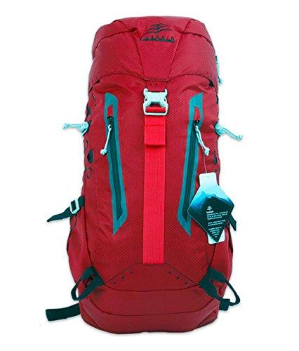 sac à dos randonnée Sac Alpinisme épaule homme femme sac à dos de randonnée en plein air Sacs à dos de randonnée ( Couleur : Rouge , taille : 50L )