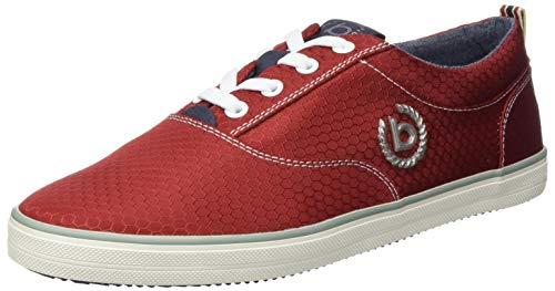 bugatti Herren 321502046950 Sneaker, Rot, 42 EU