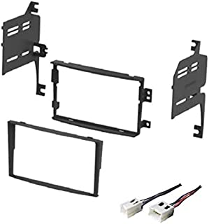 ASC Audio Car Stereo Dash Install Kit and Wire Harness for Installing an Aftermarket Double Din Radio for 2006 2007 2008 Nissan 350Z