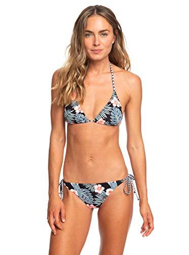 Roxy Damen Beach Classics Two Piece Bikini, Anthracite tropicalababa Swim, S