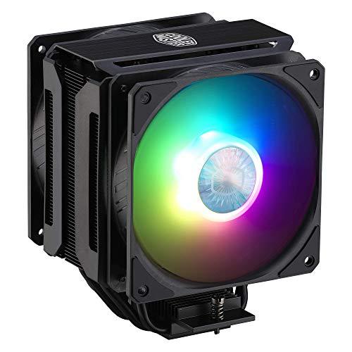 CoolerMaster MasterAir MA612 Stealth ARGB CPU Air Cooler, 6 Heat Pipes, Nickel Plated Base, Aluminum Black Fins, Push-Pull, Dual SickleFlow Fans for AMD Ryzen/Intel 1200/1151