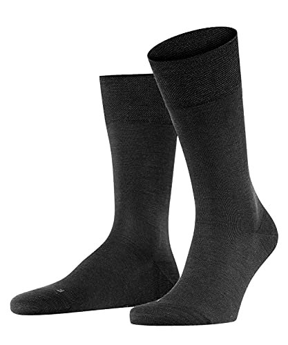 FALKE Herren Socken Sensitive Berlin, Merinowolle Baumwolle, 1 Paar, Schwarz (Black 3000), 43-46 (UK 8.5-11 Ι US 9.5-12)