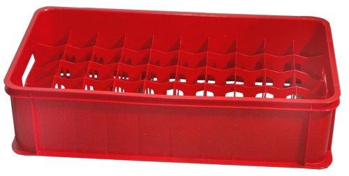 Contacto Gläserkasten 50 Fächer, rot