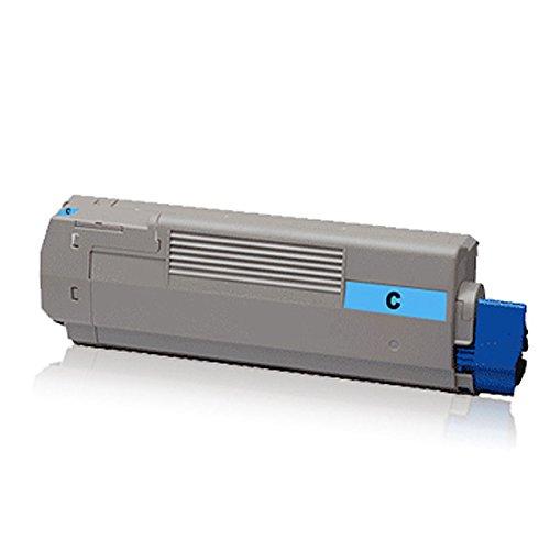 1x kompatible Tonerkartusche für OKI C-610CDN C-610DN C-610DTN C-610N Cyan 44315307