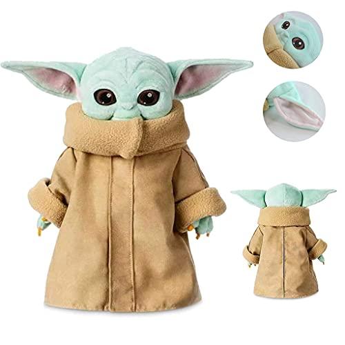 Baby Yoda, Star Wars The Mandalorian The Child Baby Yoda 11-inch Plush, Disney Store The Child Small Soft Toy, Star Wars The Mandalorian, Best Gift for Kids (9.8 inch)