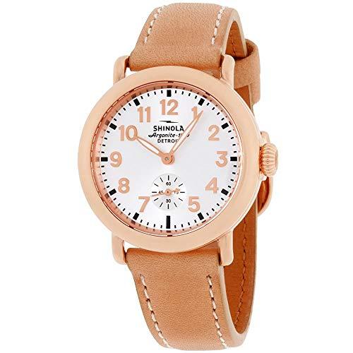 Shinola The Runwell Damen-Armbanduhr 36mm Armband Leder Braun Quarz S0200046