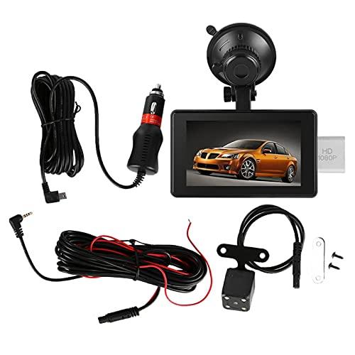 Videocamera per auto - HD 1080P GPS per auto da 4 pollici con doppio condensatore G-Sensor DVR per videocamera registratore