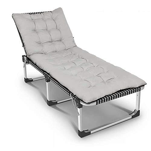 YANGYUAN Esterno di Alluminio Pieghevole Lounge Chairs Regolabile Chaise Lounge Chair Giardino Sedia Pieghevole for Patio Beach Porch Nuoto a Bordo Vasca (Grigio)