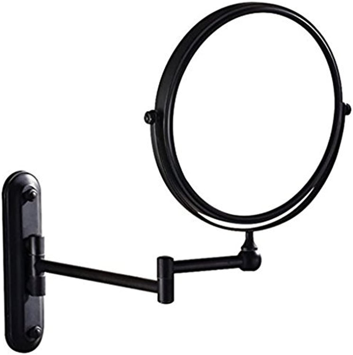 Sanliv 8 Inch Double Sided Makeup Mirror with 7x Magnification Wall Mounted Vanity Mirror, No Light, Oil-Rubbed Bronze