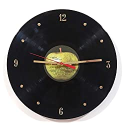 The Beatles Vinyl Record Wall Clock (Apple Label). 12 Clock Made with The Actual Beatles Record