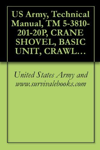 US Army, Technical Manual, TM 5-3810-201-20P, CRANE SHOVEL, BASIC UNIT, CRAWLER MOUNTED: 40-TON; 2 CU. YD. (HARNISCHFEGER MODEL 855BG2) WINTERIZED (FSN ... (3810-786-5200) (English Edition)