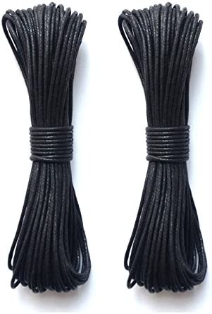 LWR CRAFTS 2mm Waxed Cotton Cord 45 Feet Per Pack (Pack of 2) (Chocolate)