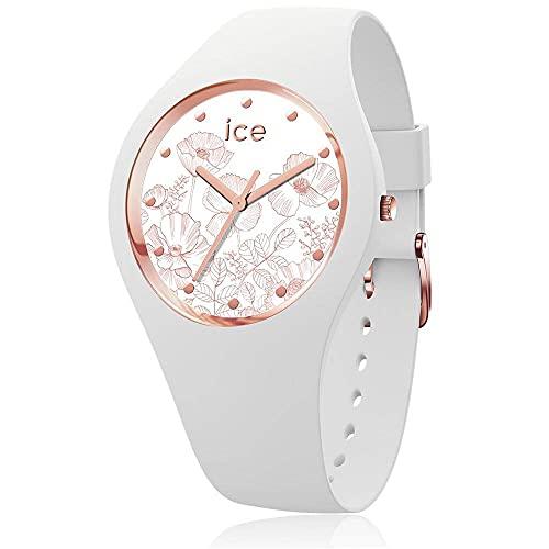 ICE-WATCH - ICE flower Spring white, Reloj blanco para Mujer con Correa de silicona - 016662 (Small)