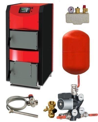 Calderas de Combustible Sólido Thermoflux Hkk Activo 25Kw con Anschlußpaket