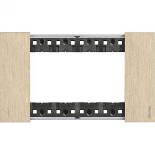 Bticino KA4804ZW Living Now - Placca 4 Moduli, Oro, 120 x 50 x 10 cm