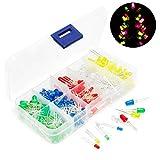 Gikfun 3mm 5mm LEDs Light White Yellow Red Green Blue Assorted Kit for Arduino DIY (Pack of 300pcs) EK8453