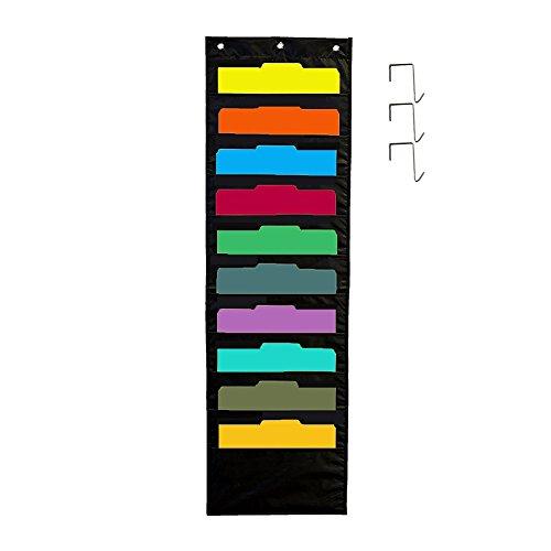 Organizador 10 compartimentos colgar pared 3 ganchos