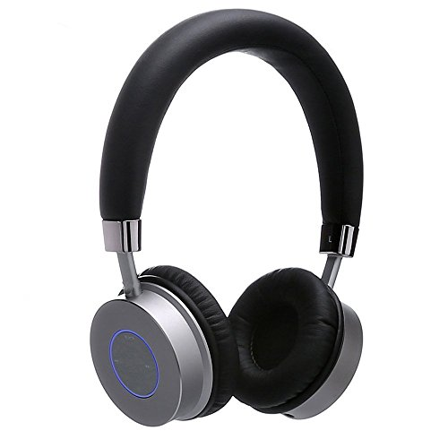 Contixo KB-200 Premium Kids Headphones with Volume Limit Controls (Max 85dB), Bluetooth Wireless Headphones Over-The-Ear with Microphone (Black) - Best Gift