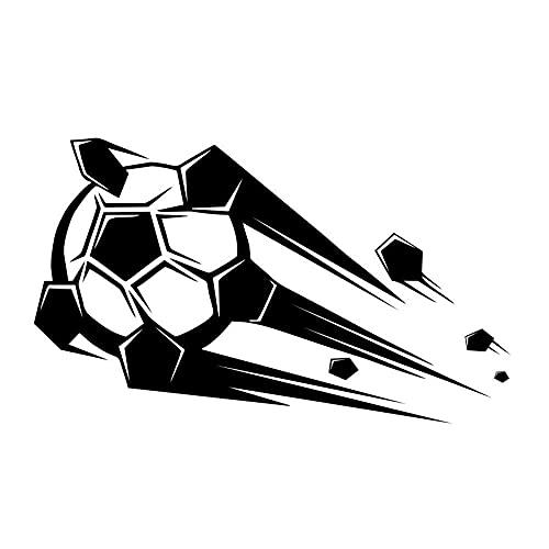 Calcomanías De Vinilo Extraíbles De Fútbol Volador 3D En La Pared, Pegatinas De Pared De Diseño Creativo, Decoración Del Hogar Extraíble Para Sala De Estar, 72Cm X 43Cm