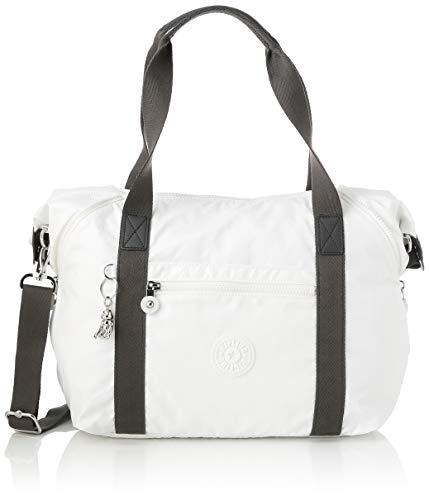 Kipling Damen ART Tote Bag, Weiß (White Metallic), Einheitsgröße