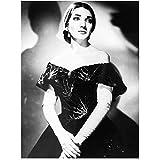 NFGGRF Maria Callas Opernsängerin Schwarz Weiß Porträt