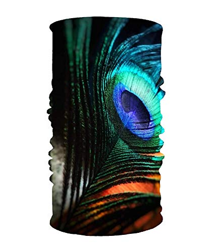 KL Decor Stylish Flower Nature Plant UV Headband Quick Dry Ultra Soft Elastic Handscarf Microfiber Headwear Outdoor Bandana Magic Scarf Face Mask Unisex