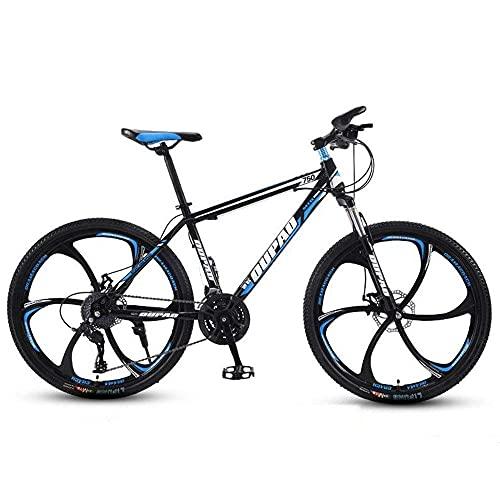 Mountain Bike - Mountain bike da uomo e da donna, da 26 pollici, ruote da uomo/donna, con doppio freno a disco, struttura in acciaio al carbonio, mountain bike da 21/24/27 velocità, per donne e adulti