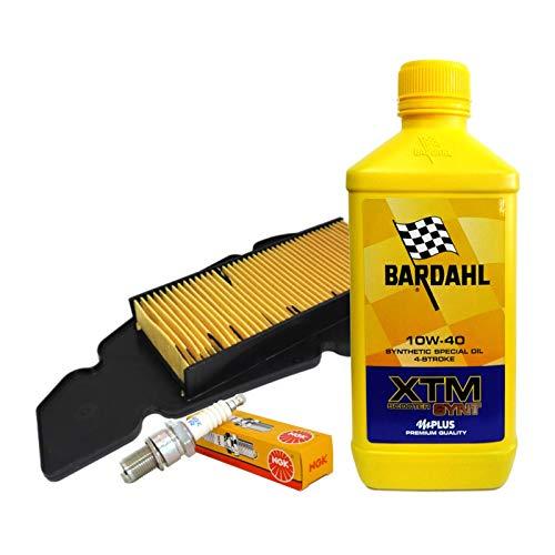 Tecneco Kit Bardahl XTM 10 W40 Filtre à air bougie malaguti Blog Centre 125 160