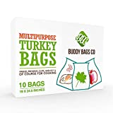Buddy Bags Co Multipurpose Nylon Turkey Oven Bags - 19' x 24.5' - 10 Pack