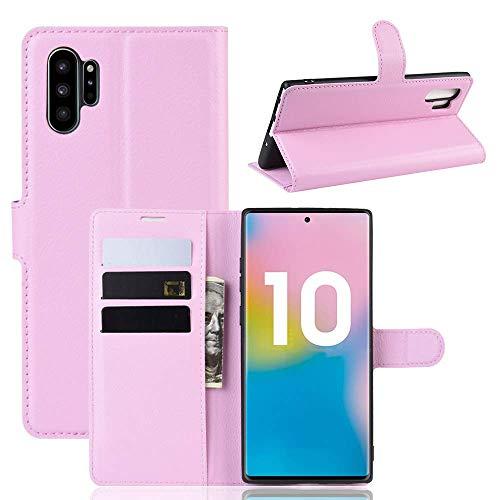 Capa Capinha Carteira 360 Para Samsung Galaxy Note 10 Plus Tela De 6.8Polegadas Case Couro Flip Wallet - Danet (Rosa)