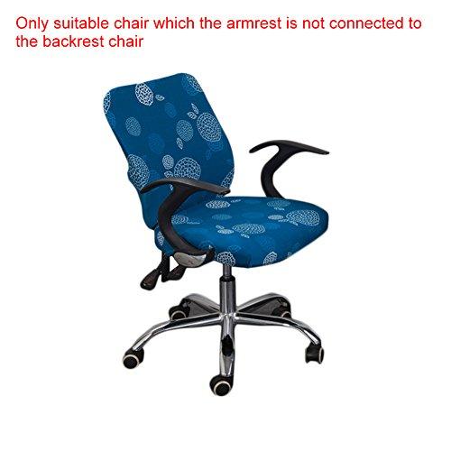 yunt élastiques Housse de chaise Set avec housse Motif fauteuil de bureau stretche moderne Housse de chaise Chair Cover Protector pour bureau maison C